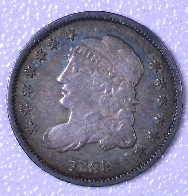 TONED 1835 H10C Capped Bust Half Dime - F+ Cleaned
