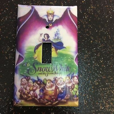 Single Toggle Light Switch Plate Cover  Princess Snow White Seven Dwarfs Witch