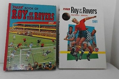 Vintage Roy of the Rovers Annual Tiger Books 1960 & 1961 Football