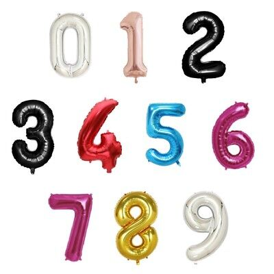 "34"" Giant Foil Number Large Helium Air Balloons Happy Birthday Party Gifts"