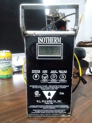 W.L Walker Isotherm Digital Thermometer w 75ft Cable and Probe  Pre Owned