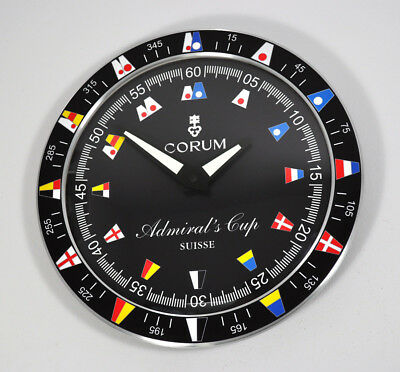 Corum Admirals Cup Watch Dealers Showroom Wall Clock Display