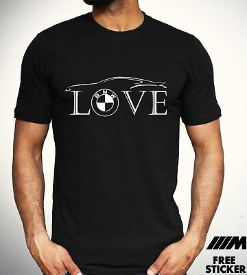Love BMW  T Shirt Car Owner Road Racer Gift tee Mpower Mens Gift Tee Top S - 2XL