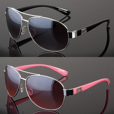 DG Eyewear Fashion Designer Sunglasses Mens Womens Black Retro Aviator Shades