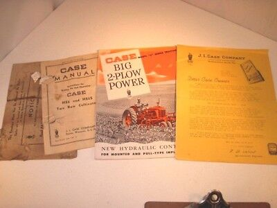 Vintage Case Tractor S Series & 2 Row Cultivator Manual Model Hs2 & Hs2S Booklet