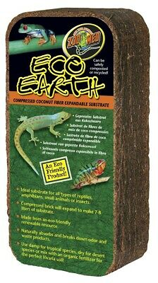 Zoo Med Eco Earth Compressed Coconut Fiber Expandable Substrate Reptiles 1 Brick