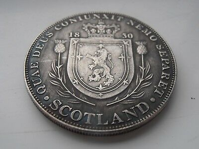 George 1111 Rare Scottish Silver Plated Pattern Crown Coin