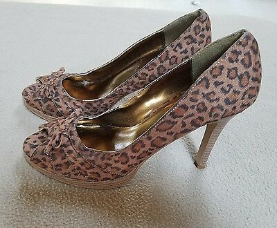 04ec305e86ee LEOPARD PRINT WOMENS shoes 8.5 Made in Italy size 39 -  45.00