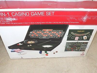 Brand New 3 in 1 Casino Game Set by Fun Company--Roulette-Blackjack-Craps
