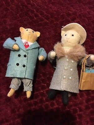"Collectables ""midwest of cannon falls HEART FELT"" Cat felt Doll Ornaments"