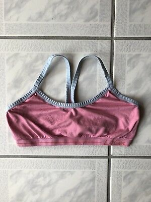 Vintage LA Gear Sports bra top Pink And White Girls Large