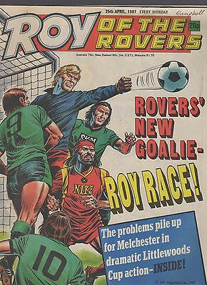 (-0-) ROY OF THE ROVERS COMIC 25th April 1987