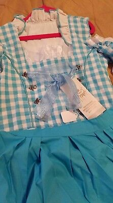 Girls,Kids,size 11.Germany,German,Trachten,May,Oktoberfest,Dirndl,2-pc.,Blue