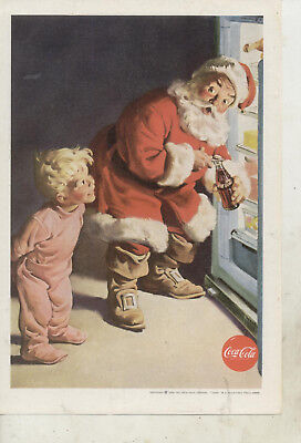 1959 Coca-Cola Ad With Santa Claus-National Geographic Magazine