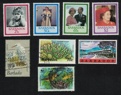 [Lot 20] Barbados Queen's Birthday Birds Corals Small Collection MNH and canc
