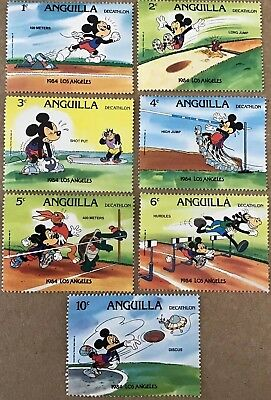 ANGUILLA. 1984 Los Angeles Olympics Decathlon Mickey Mouse. MNH