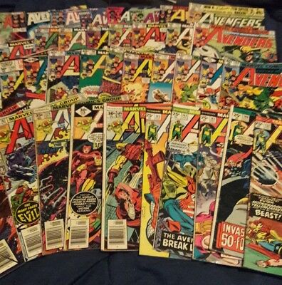 Avengers comics assorted lot of 38 from 70s to early  1980s era