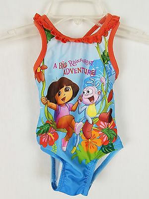 Nickelodeon Dora Swimsuit One-Piece Multi-Color Toddler Girls Size 12 M