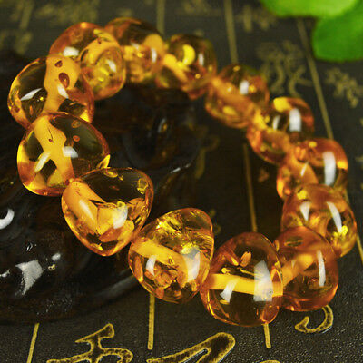 Baltic's Exquisite  Triangle Flower AMBER Beads  BRACELET  Fashion_……