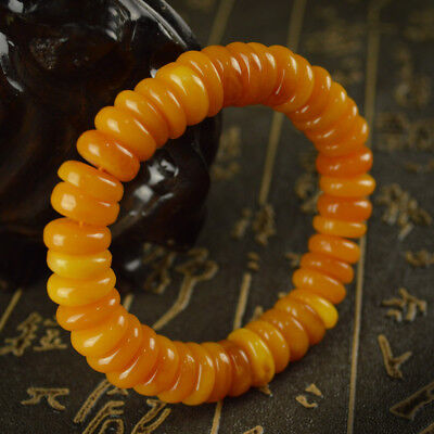 Baltic's Exquisite  Abacus Beads Unique Amber TESTED  BRACELET  Float  Epoptic