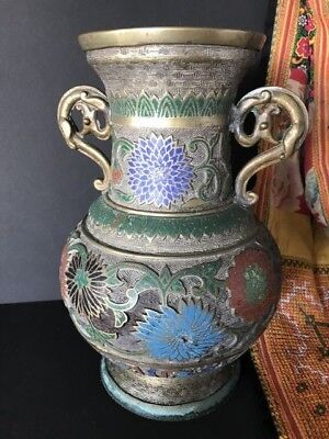 Old Chinese Bronze Inlaid Vase …beautiful collection / display piece