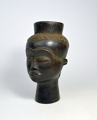 Elegant and Refined Kuba Palm Wine cup ~ African Art