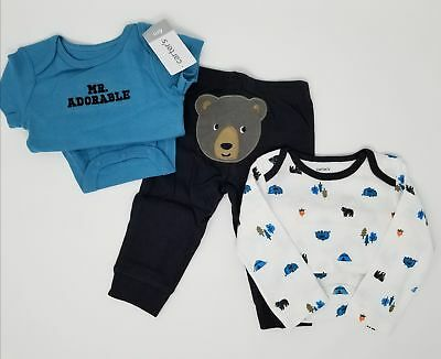 caecf23bf NWT Carter's 3 Piece Baby Boy Outfit 6 Months Bears Bodysuit Pants Set