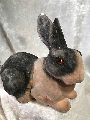 Vintage Flocked Bunny Rabbit