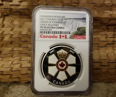 2017 Silver $20 Order Of Canada Early Releases Pf 69 Ultra Cameo