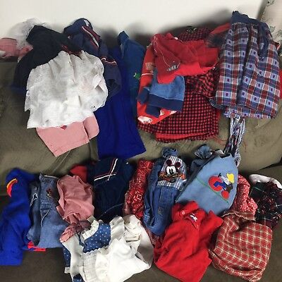 Vintage Baby Girl and Boy Toddler Clothes 34 Piece Lot