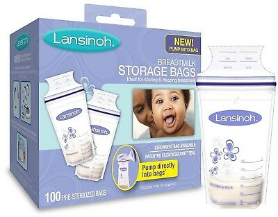 Lansinoh Breastmilk Storage Bags 100 Count BPA Free And BPS Free (Packaging M...