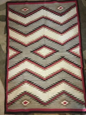 """Authentic Vintage/Antique Navajo Rug, Made ca. 1920's, Large, 70"""" x 47"""""""