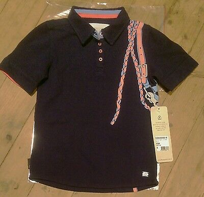 BNWT Girls sz 6 THOMAS COOK Halt It Navy Polo Horse Shirt