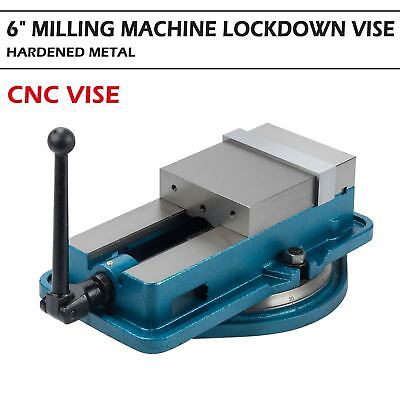 "6"" Worktable Precision Hardened Milling Machine Vise Lock Bench Clamp Clamping"