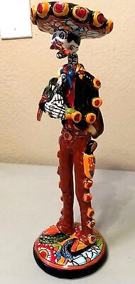 Catrina Day of the Dead Talavera Figure Mariachi Rooster Mexican  Folk Art