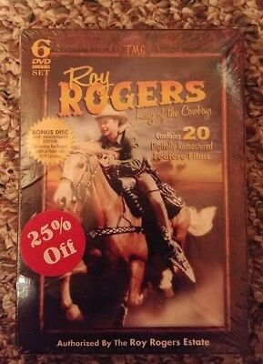 Roy Rogers: King of the Cowboys~ 6 DVD Set ~ 20 Feature Films ~ NEW