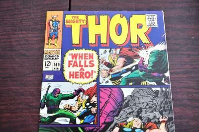 """** The Mighty THOR 149 (NM 9.2)""""Jack KIRBY Stan LEE Original OWNER Collection! *"""