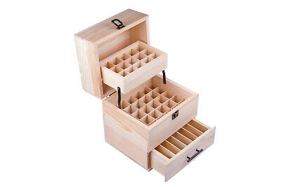 Essential Oil Bottle Wooden Storage Box 3 Tier Holds 59 Bottles Aromatherapy