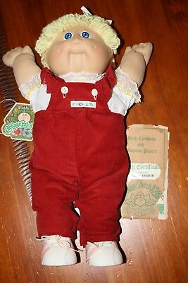 Cabbage Patch Kids- vintage girl and birth certificate