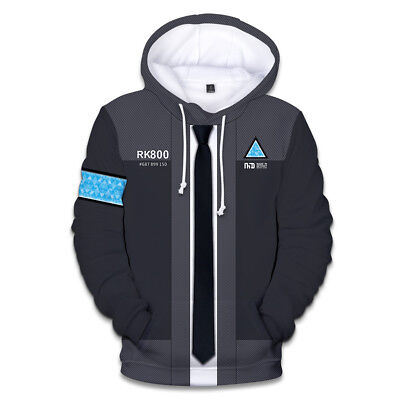 Detroit: Become Human Connor RK800 Hoodie 3D Print Sweatshirt Pullover Unisex