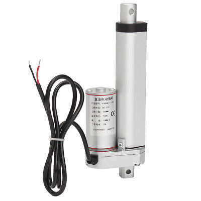 """Linear Actuator 4"""" Heavy Duty Stroke 750 Pound Max Lift 12V DC 4 inch 10mm/s"""