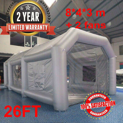 26FT Portable Giant Cloth Inflatable Car Tent Workstation Spray Paint Blower 8M