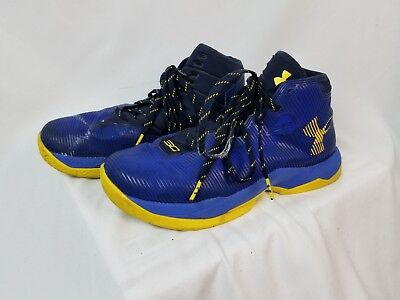 b6144571d5d UNDER ARMOUR KIDS Steph Curry Basketball Shoe Youth Size 7 Blue Yellow -   40.28