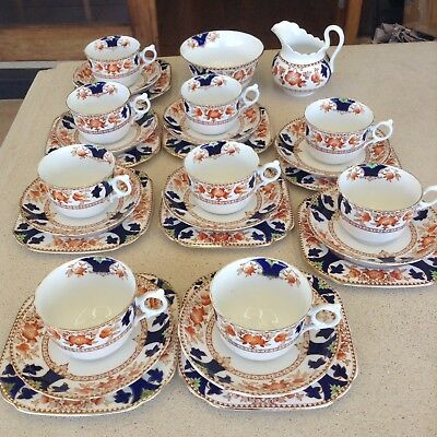 Vintage Tuscan China Cups and Saucer Trios / Tea Set