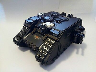 WH40K Space Marine Land Raider in Iron Hands colour scheme (assembled & painted)
