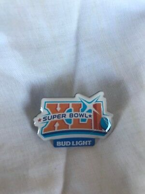 New Bud Light Super Bowl XLI Pin SB41 Colts Bears