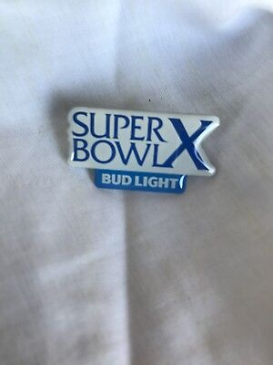 New Bud Light Super Bowl X Pin SB10 Cowboys Steelers