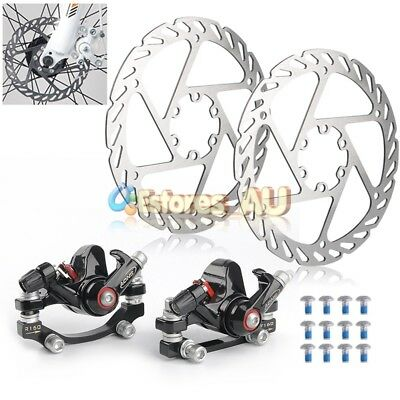 MTB Road Bike Bicycle Mechanical Disc Brake Set w/ Caliper & Rotor 160mm + Lock
