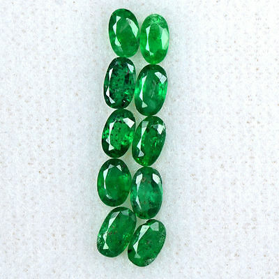 2.44 Cts Natural Rich Green Emerald Loose Gemstone Oval Cut Lot  5x3 mm Zambia $