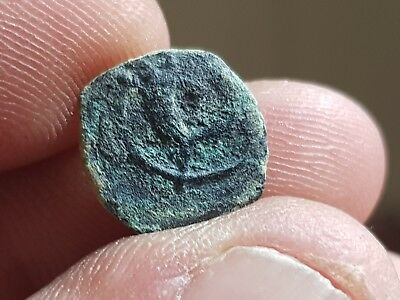 Uncertai Ancient Bronze Ae Coin Jewish.very Interest.2,2 Gr 14 Mm